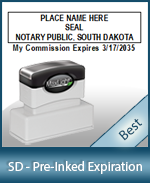 The Highest quality notary commission stamp for South Dakota.