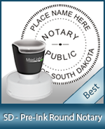 This High-quality Round South Dakota Notary stamp gives a clean, clear impression every time.