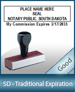 SD-COMM-T - South Dakota Notary Traditional Expiration Stamp