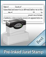 Jurat stamp all states