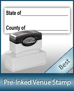 Order your Venue Notary Stamps from Anchor Stamp. Notary Supplies for All States. Fast Shipping