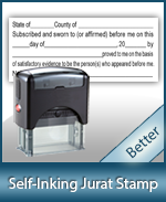 Jurat Notary Stamps for all states. Huge selection of Notary Supplies. Fast Shipping