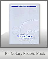 This Tennessee Notary Record Book, also known as a Notary Journal is an essential product for all notaries.