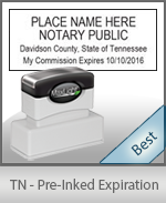 The Highest quality notary commission stamp for Tennessee.