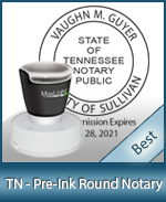 This High-quality Round Tennessee Notary stamp gives a clean, clear impression every time.