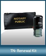 A notary supply kit designed for renewing notaries of Tennessee.