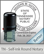 An affordable round self-inking notary stamp for Tennessee can be purchased quickly right here.