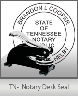 This sturdy Tennessee Notary Desk Seal is made of steel construction and built to last.