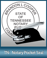 This Tennessee notary seal is made to last. This quality, affordable notary embosser can be purchased right here.