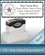 The Highest quality notary commission stamp for Texas.