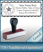 TX-COMM-T - Texas Notary Traditional Expiration Stamp