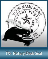 This sturdy Texas Notary Desk Seal is made of steel construction and built to last.