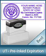 The Highest quality notary commission stamp for Utah.