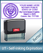 This durable, quality Notary commission stamp for Utah is available right here. Fast shipping!