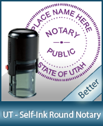 An affordable round self-inking notary stamp for Utah can be purchased quickly right here.