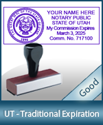UT-COMM-T - Utah Notary Traditional Expiration Stamp