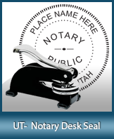 This sturdy Utah Notary Desk Seal is made of steel construction and built to last.