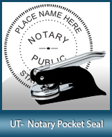 This Utah notary seal is made to last. This quality, affordable notary embosser can be purchased right here.