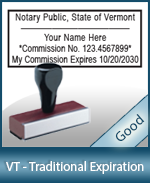VT-COMM-T - Vermont Notary Traditional Expiration Stamp
