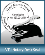 This sturdy Vermont Notary Desk Seal is made of steel construction and built to last.