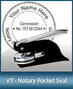 This Vermont notary seal is made to last. This quality, affordable notary embosser can be purchased right here.