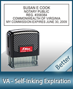 This durable, quality Notary commission stamp for Virginia is available right here. Fast shipping!