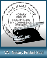 This Virginia notary seal is made to last. This quality, affordable notary embosser can be purchased right here.