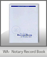 This Washington Notary Record Book, also known as a Notary Journal is an essential product for all notaries.