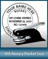 This Washington notary seal is made to last. This quality, affordable notary embosser can be purchased right here.
