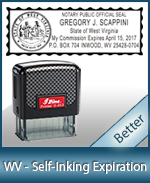 This durable, quality Notary commission stamp for West Virginia is available right here. Fast shipping!
