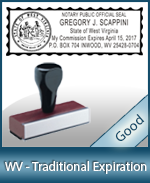 WV-COMM-T - West Virginia Notary Traditional Expiration Stamp