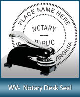 This sturdy West Virginia Notary Desk Seal is made of steel construction and built to last.
