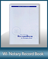 This Wisconsin Notary Record Book, also known as a Notary Journal is an essential product for all notaries.