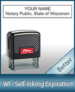 This durable, quality Notary commission stamp for Wisconsin is available right here. Fast shipping!
