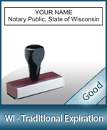 WI-COMM-T - Wisconsin Notary Traditional Expiration Stamp