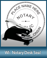 This sturdy Wisconsin Notary Desk Seal is made of steel construction and built to last.