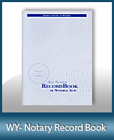 This Wyoming Notary Record Book, also known as a Notary Journal is an essential product for all notaries.