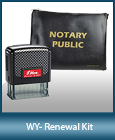 A notary supply kit designed for renewing notaries of Wyoming.