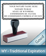 WY-COMM-T - Wyoming Notary Traditional Expiration Stamp