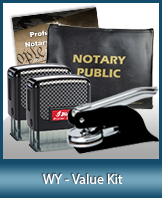 A money-saving arrangement of notary supplies for Wyoming. Fast Delivery!
