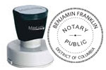 DC-XL535 - Washington D.C. Notary Pre-Inked Round Stamp