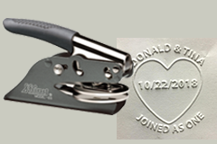 WEDDING-PS-HEART - Wedding Pocket Seal Joined Hearts